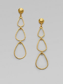 GURHAN - 24K Gold Teardrop Drop Earrings