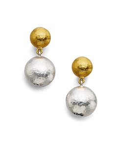 GURHAN - 24K Yellow Gold & Sterling Silver Earrings