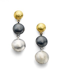 GURHAN - 24K Yellow Gold & Sterling Silver Drop Earrings
