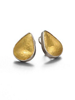 GURHAN - 24K Gold & Sterling Silver Teardrop Stud Earrings