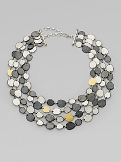 GURHAN - Sterling Silver & 24K Gold Multi-Stand Necklace