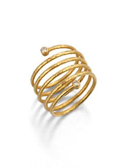 GURHAN - 24K Gold & Diamond Wrapped Ring