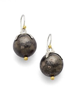 GURHAN - Sterling Silver & 24K Gold Ball Earring