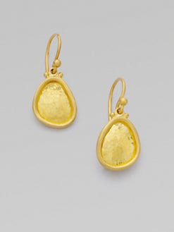 GURHAN - 24K Gold Mini Textured Hook Earring