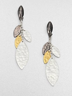 GURHAN - 24K Gold & Sterling Silver Willow Drop Earrings