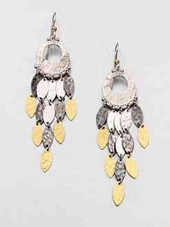 GURHAN - 24K Yellow Gold and Sterling Silver Chandelier Earrings