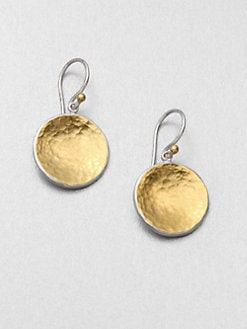 GURHAN - 24K Gold and Sterling Silver Disc Earrings