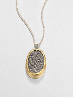 GURHAN - Druzy, Sterling Silver and 24K Yellow Gold Necklace