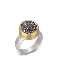 GURHAN - Druzy, Sterling Silver and 24K Yellow Gold Ring
