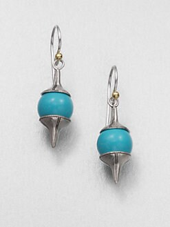 GURHAN - Turquoise, Sterling Silver and 24K Yellow Gold Earrings
