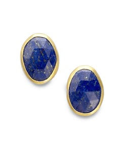 GURHAN - Lapis Button Earrings
