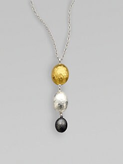 GURHAN - 24K Gold & Two-Tone Sterling Silver Graduated Lentil Pendant Necklace