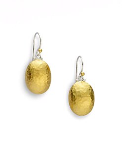 GURHAN - 24K Gold & Sterling Silver Lentil Drop Earrings