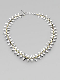 GURHAN - 24K Gold & Sterling Silver Linked Seed Necklace/Short