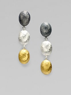 GURHAN - 24K Gold & Two-Tone Sterling Silver Lentil Drop Earrings
