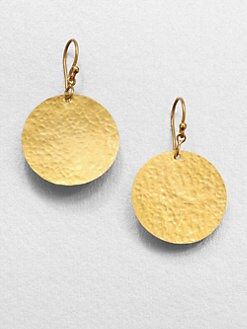 GURHAN - 24K Yellow Gold Disc Earrings
