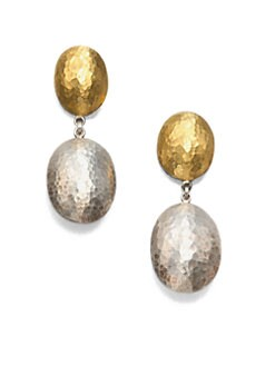 GURHAN - 24K Gold & Sterling Silver Drop Earrings