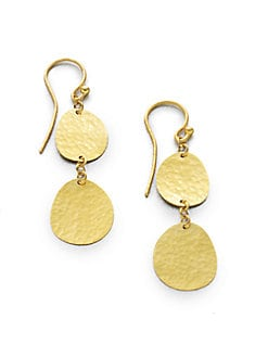 GURHAN - 24K Disc Drop Earrings