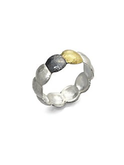 GURHAN - Sterling Silver & 24K Gold Lentil Ring