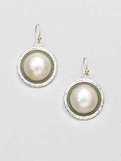 GURHAN - White Mabe Pearl & Sterling Silver Drop Earrings