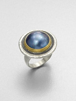 GURHAN - Grey Mabe Pearl & Sterling Silver Ring