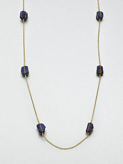 GURHAN - Lapis & 24K Gold Station Necklace