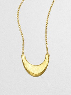 GURHAN - 24K Gold Crescent Pendant Necklace