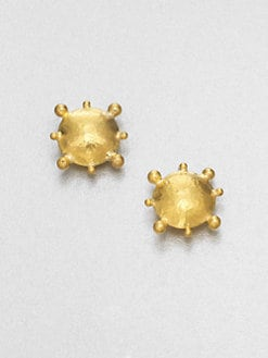 GURHAN - 24K Gold Textured Stud Earrings