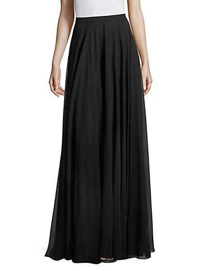 Chiffon Long Skirt $220.11 AT vintagedancer.com