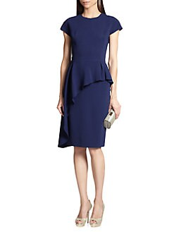 Teri Jon - Asymmetrical Peplum Dress