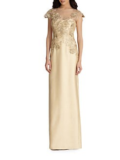 Teri Jon - Lace-Applique Gown