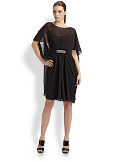 Teri Jon - Chiffon Cocoon Dress
