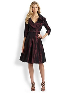 Teri Jon - Taffeta Portrait Dress