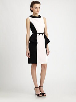 Teri Jon - Belted Colorblock Dress
