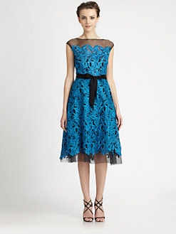 Teri Jon - Tulle Lace Dress