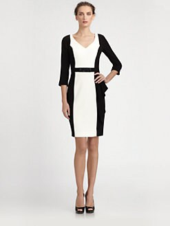 Teri Jon - Colorblock Dress