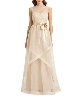 Teri Jon - Swiss Dot Tulle Gown