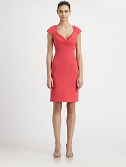 Teri Jon - Seamed Crepe Dress
