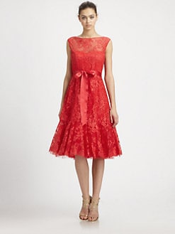Teri Jon - Lace Flounce Dress