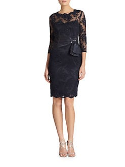 Teri Jon - Beaded Lace Dress