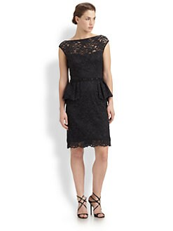 Teri Jon - Lace Peplum Dress