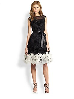 Teri Jon - Rosette-Skirted Dress