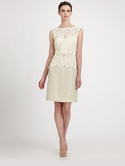 Teri Jon - Lace/Bouclé Dress