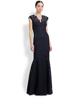 Teri Jon - Lace Trumpet Gown