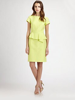 Teri Jon - Jacquard Peplum Dress