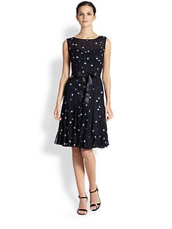 Teri Jon - Chiffon Dot Dress