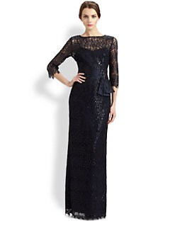 Teri Jon - Beaded Lace Gown