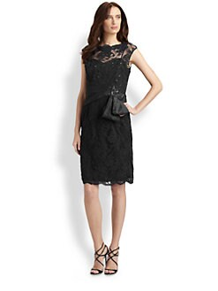Teri Jon - Sequined Lace Dress