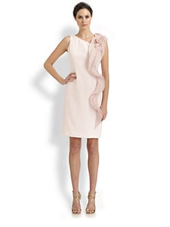 Teri Jon - Shoulder Ruffle Dress