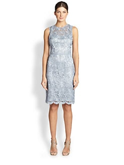 Teri Jon - Sleeveless Lace Sheath Dress